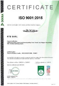 Certificat ISO 9001 EN