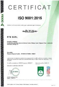 Certificat ISO 9001 FR